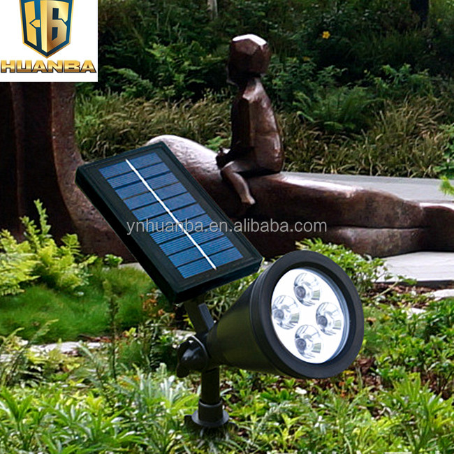 Super Bright 4led Solar Spot Light Outdoor Led Solar Garden Light ...