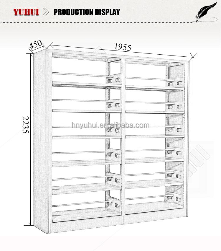 Steel School Library Furniture Bookshelf Dimensions
