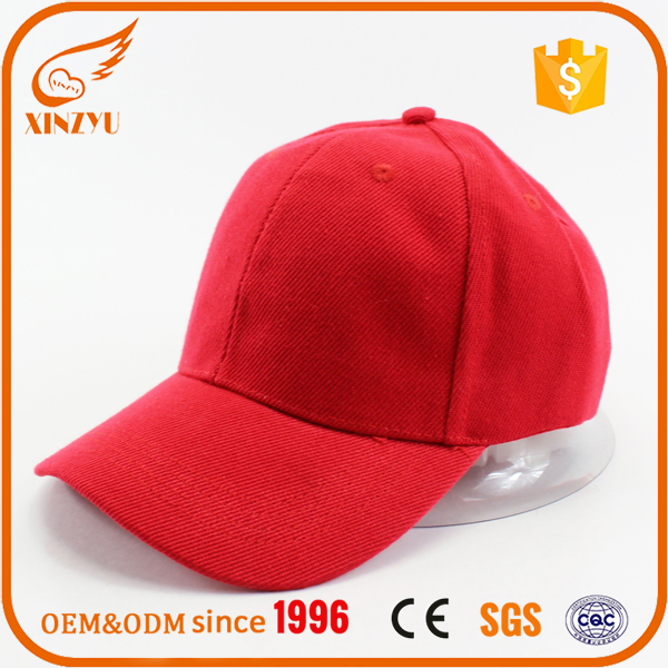 Promotional red softtextile cycling cap wholesale baseball cap without logo