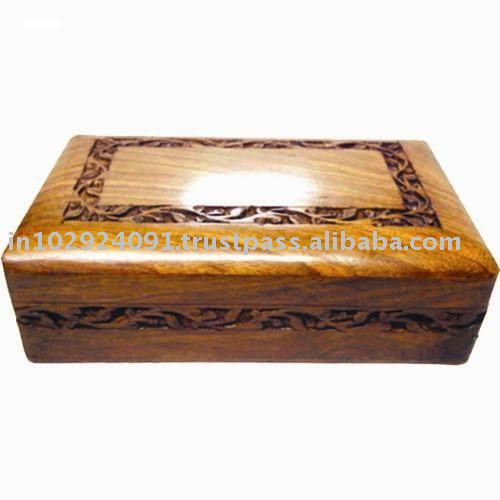 Woden Carved Box
