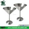 Bar accessory wine glass stainless steel round cocktail glass