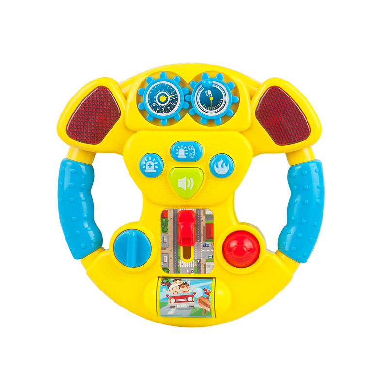Educational electric baby plastic steering wheel battery operated with music