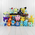20Pcs Lot Pikachu Whimscott Wobbuffet Mudkip Plush Toy Bulbasaur Jirachi Squirtle Feraligatr Dragonite Charmander Jigglypuff