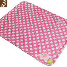 S&J 2017 high quality bear embroidery flannel fleece knitted printed newborn blanket