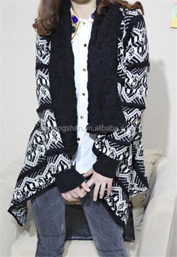 Moda coreana estilo hecho a mano ganchillo suéter diseños suéter de lana  para damas crochet cardigan ece2e5cec9128