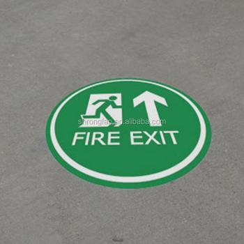 Logo Printing Vinyl Decal Removable Self Adhesive Custom Fire Escape Floor  Sticker - Buy Fire Escape Floor Sticker,Logo Printing Vinyl Decal,Removable