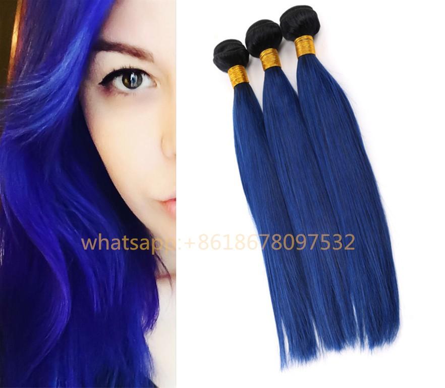Natural Human Hair Dark Blue Hair Extensions Buy Blue Hair