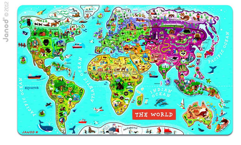 Laminated Paper World Map Magnetic Jigsaw Puzzle Mat Buy
