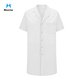 Custom Short Sleeve Medical Coats White Unisex Lab Coat