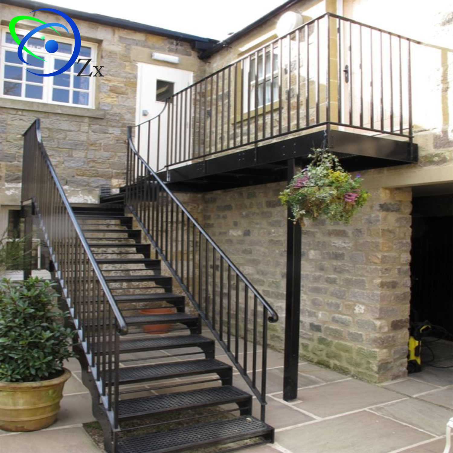 Outside Galvanized Steel Staircase/exterior Metal Stairs ...