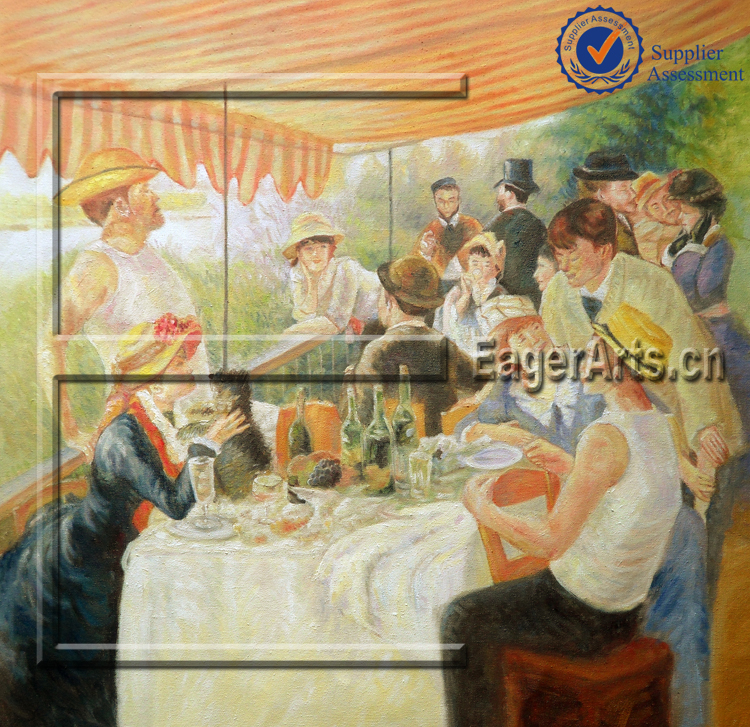 Wholesale High Quality Handmade Canvas Figure Wall Art Pictures of Famous Artists Renoir Paintings