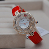 antique movable dial brand ladies red watch superior gold plated fashion watch lady