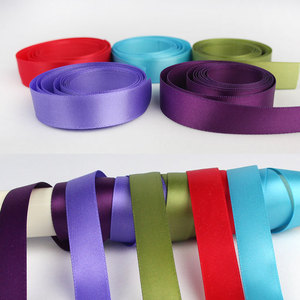 2018 wholesale colorful polyester satin ribbon