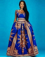 Guangzhou Clothing Factory Two Pockets Women African Maxi Dress