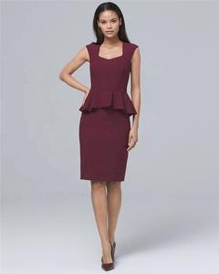 fde7d2d9afad6 Wholesale Women Peplum Office Dress Designs