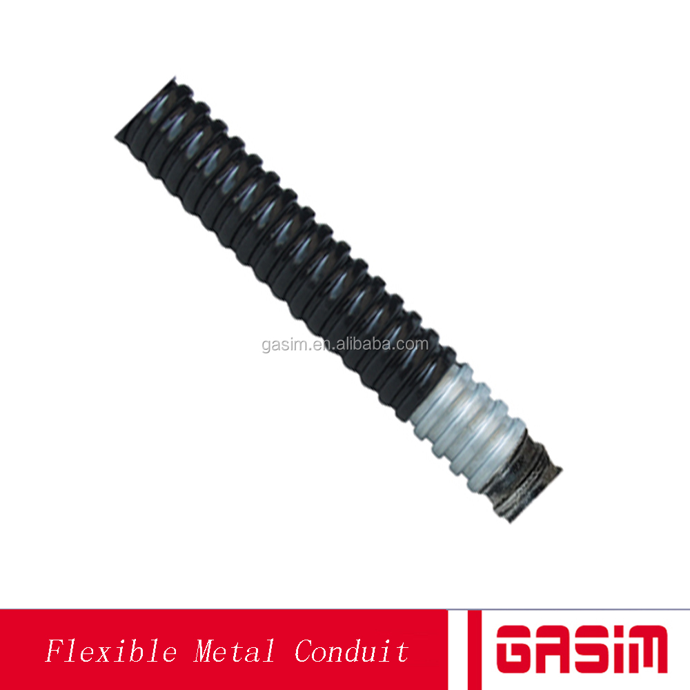 2017 manufacture gasim 6 inch Liquid Tight PVC coated flexible metal electrical conduit pipe hose tube price