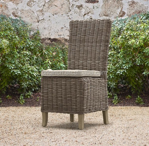 Simple designed luxury hotel dining room or outdoor use furniture wholesale rattan wicker side chair