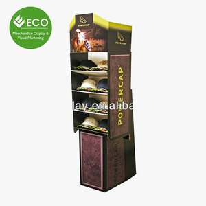 Corrugated Eco-Friendly Material Cardboard Fashion Display Stand For Cap