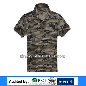 High quality camouflage polo t shirt china manufacturer/mens polo t shirts china clothing/famous brands of polo t shirts