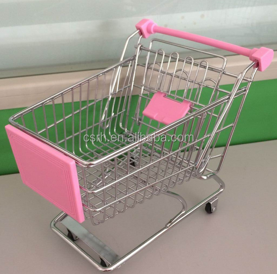 Big Size Nice Mini Shopping Trolley Pink Color RH-SX04