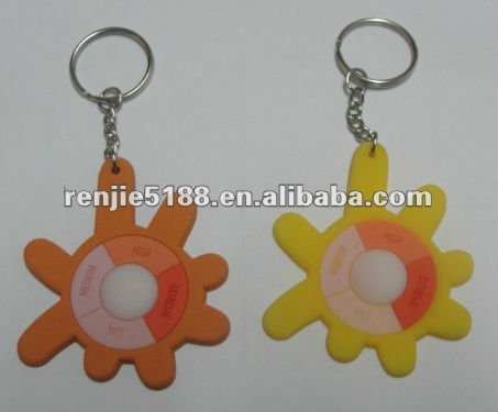 2012 the best fashion and hot 3D soft keychain