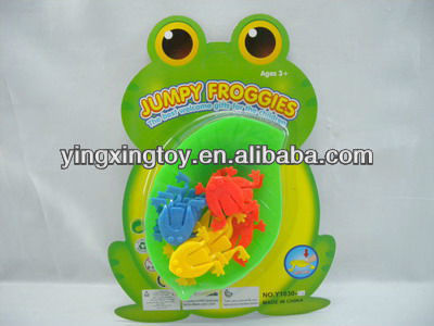 hot sell plastic toy mini jump frog