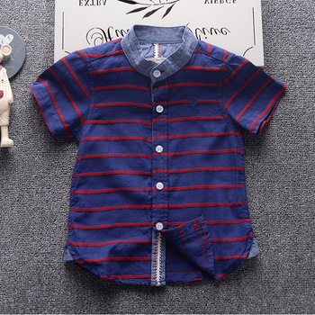 MS83702M boys summer shirts kids breathable shirts