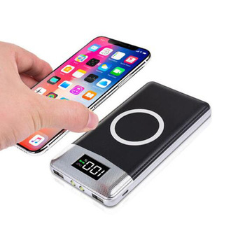 Consumer Electronics Mobile Phones Portable Power Bank Free Sample High Capacity Dual Output Universal Qi Wireless Power Bank