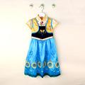 Fever Princess Girl Elsa Dresses Birthday Gift Shawl Printing Stitching Style Children s Costume Clothes 080615