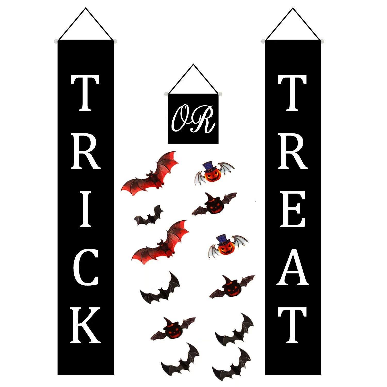 Buy Qbaby 4 Pcs Trick Or Treat Halloween Banner Outdoor 3d