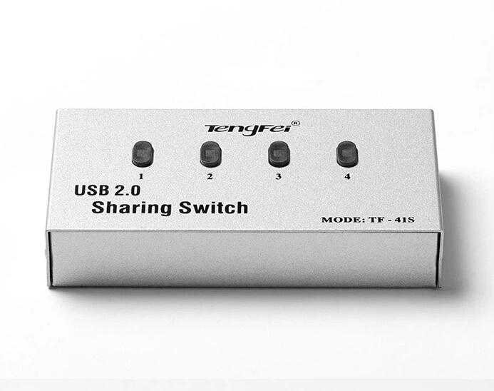 USB 2.0 Hub Splitter ON/OFF Sharing Switch with 2 port printer