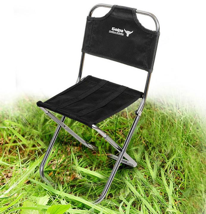 Alta calidad portable taburete silla de aluminio negro - Silla alta plegable ...
