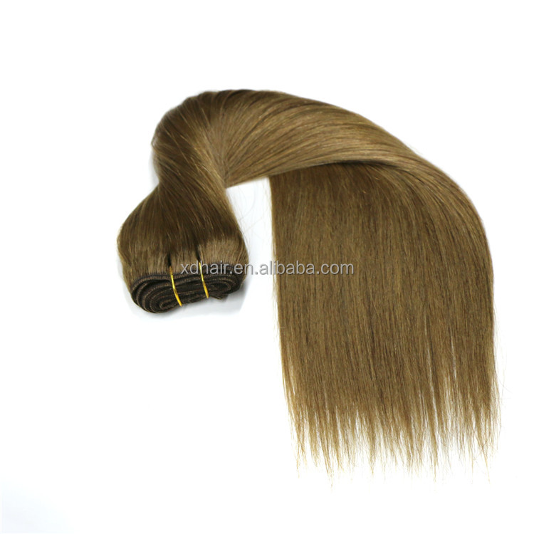 Wholesale cheap real human hair top quality dark brown hair weave/weft