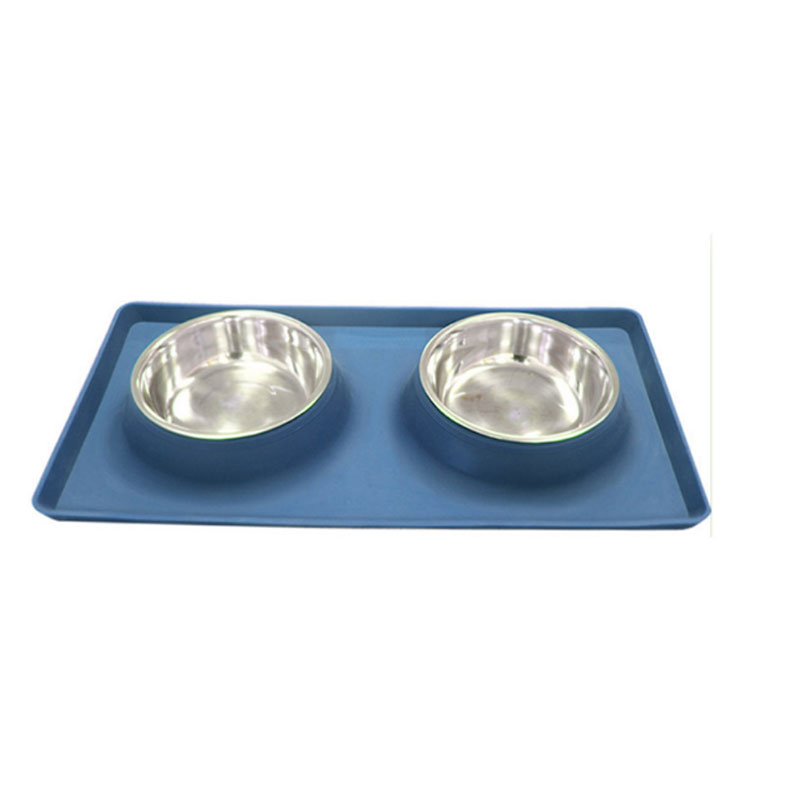 Pet <strong>Dog</strong> <strong>Bowls</strong> 2 Stainless Steel <strong>Dog</strong> <strong>Bowl</strong> with No Spill Non-Skid Silicone Mat + Pet Food Scoop Feeder <strong>Bowls</strong> for Feeding <strong>Dogs</strong> Cats