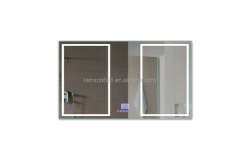 Bathroom Mirror Uae uae luxury led illuminated wall mounted bath mirror with clock and