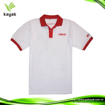 7941fdec1e5 Printed Polo Shirt With Custom Red Collar And Cuffes - Buy Printed ...