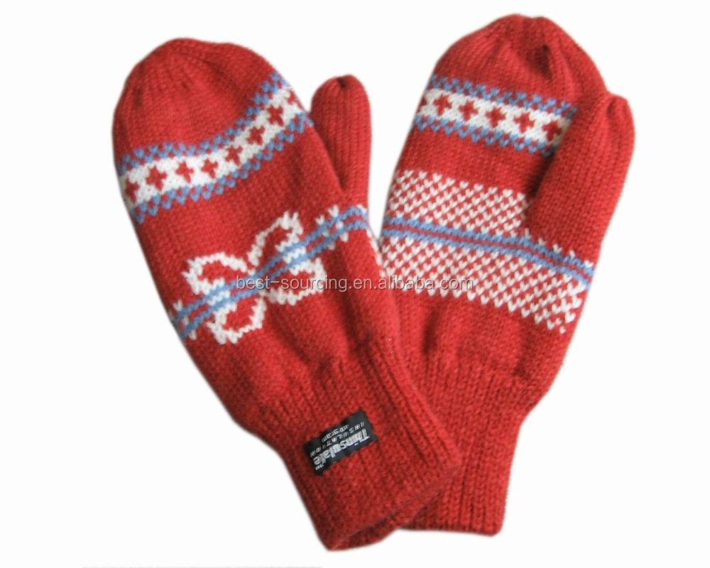 Factory price thinsulate lining Hot selling wholesale warm winter acrylic gloves
