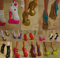 10pairs lot 2017 New Colorful Accessories Shoes For Monster High Doll Fashion Boots High Heel Shoes