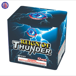 Liuyang professional SP2107 Reign of Thunder 12 shots salute cake fireworks