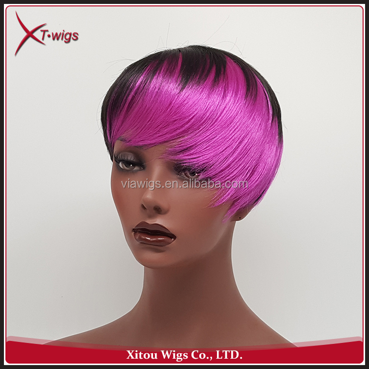 Fashion New Style Colorful Glueless Short Women Hair Lace Wig