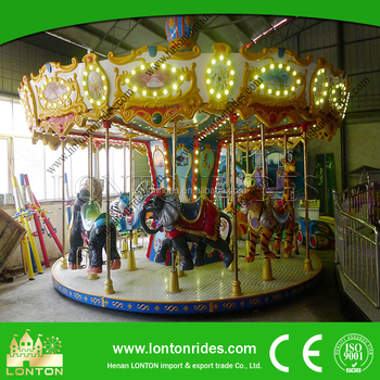 Kids Play Amusement Ride Backyard Merry Go Round Horse For Sale Factory  Price