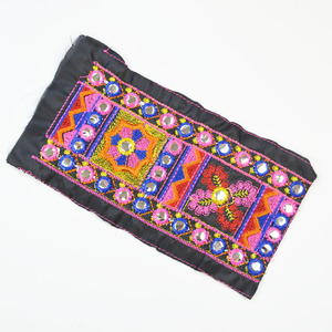 New arrival vintage 10cm mirror polyester ethnic embroidery lace trimming for garment