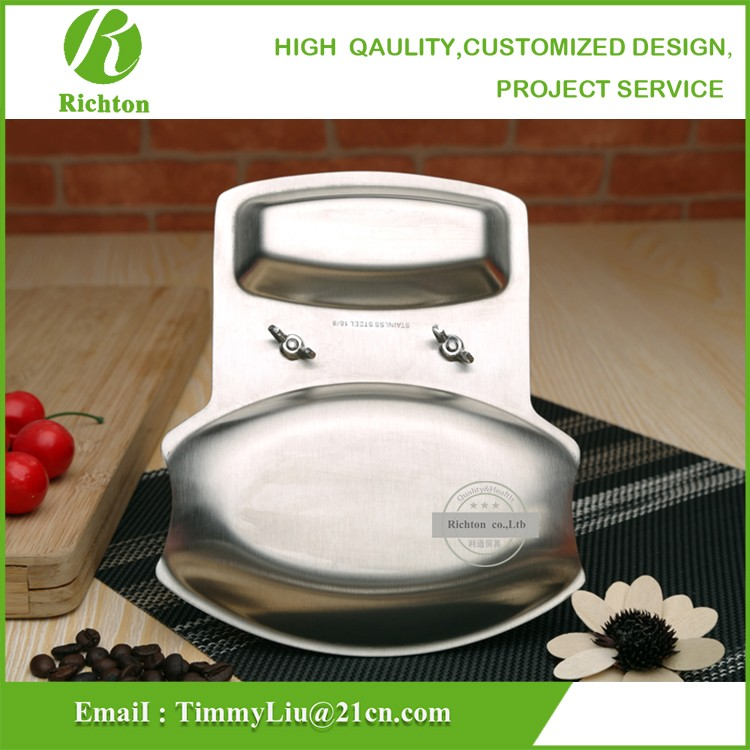 Good Price best qualityStainless Steel Utensils Pot Rest Kitchen Spoon and Lid Holder Multifunctional Storage Rack