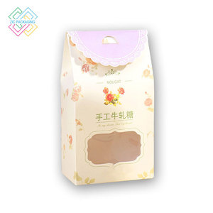 Manufacturers wholesale customized printed candy packaging bags transparent window food-grade paper bags