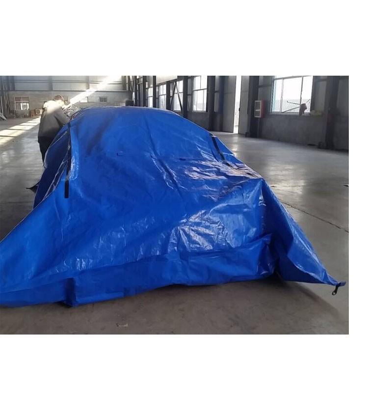 Folding Pe Plastic Clear Car Cover Folding Garage Car