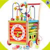 wholesale fashion kIds wooden learning walker children wooden learning walker W16E038