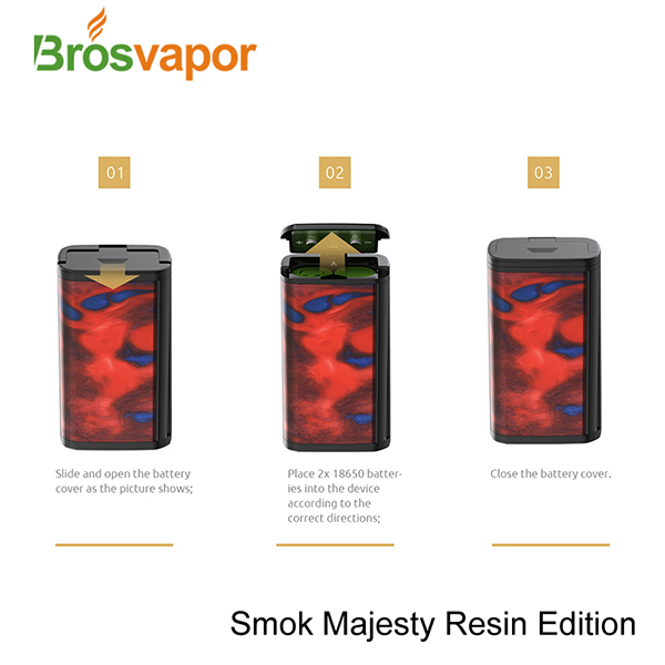 Brosvapor Offer Two selective editions Carbon Fiber & Resin Smoktech 4ml 225W SMOK Majesty Kit Standard Edition in stock