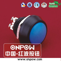 Selling for 28year, China best push button switch ONPOW CE ROHS 12mm momentary metal push button switch Colored switch