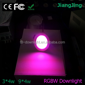 Rgbw 3*4w Led Downlight In Wall Recessed Led Lights 12v