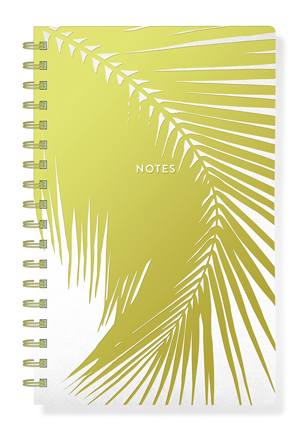 """FRINGE STUDIO In Simple Palm Faux Leather Journal, Spiral Binding, 6"""" x 9.5"""", 160 Lined Pages (896001)"""